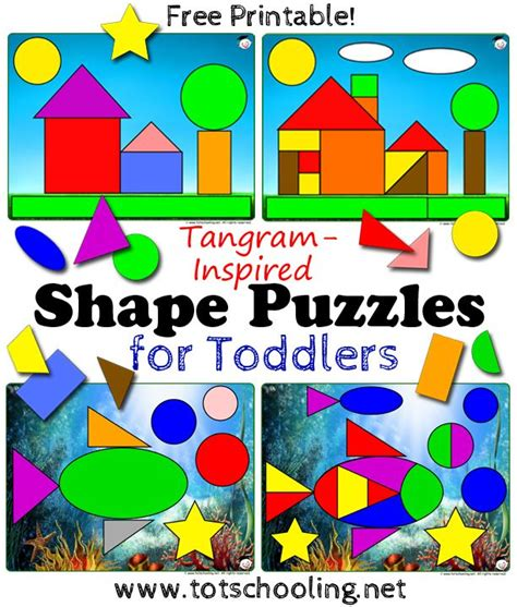 tangram shape puzzles  toddlers  images shape