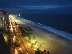Rio De Janeiro Beaches at Night