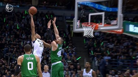 Giannis Antetokounmpo Dunks on Aaron Baynes | Celtics vs ...