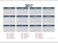 2017 Accounting Calendar 454 Free Printable Templates