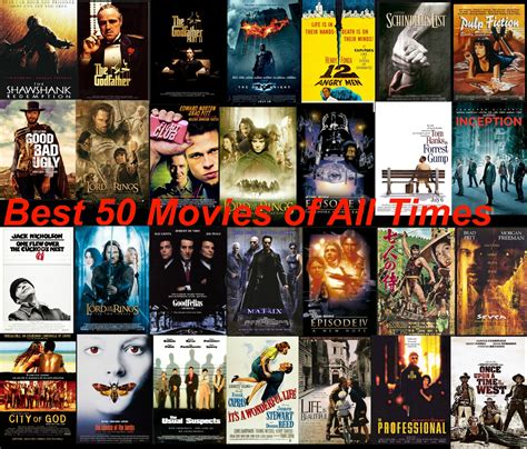 Top 50 Best Movies Of All Time  Dvdhometheater