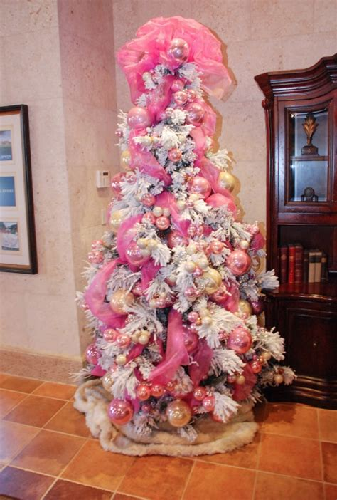 gallery for gt white and pink christmas trees