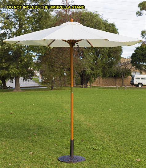 market umbrella wooden pole 2 5m timber cafe outdoor