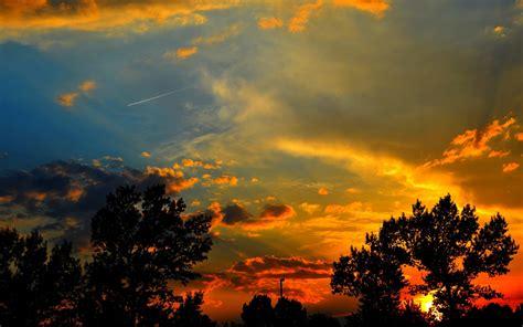 sunset silhouette nature hd desktop wallpapers  hd