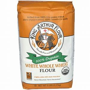 King Arthur Flour, White Whole Wheat Flour, 5 lbs (2.27 kg ...