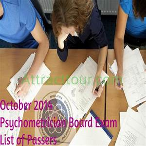 Congratulations  Psychometricians Board Exam Results For
