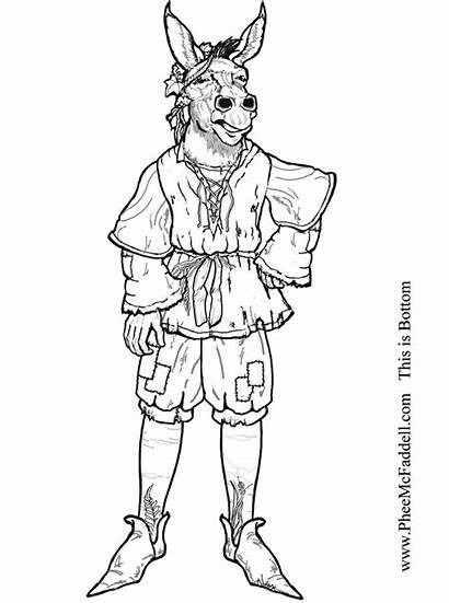 Midsummer Dream Clipart Bottom Nights Coloring Pages
