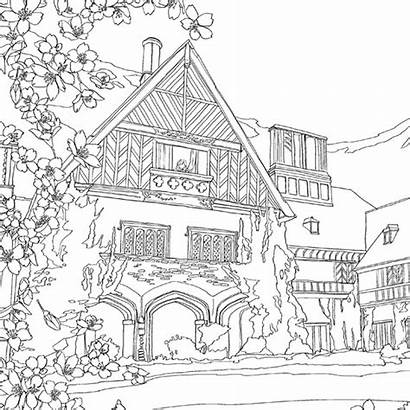 Coloring Books Pages Adult Drawing Landscapes Colouring