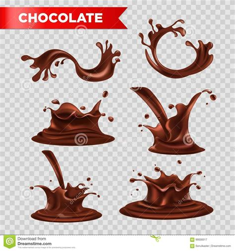 chocolate splash fondant drops vector relaistc isolated