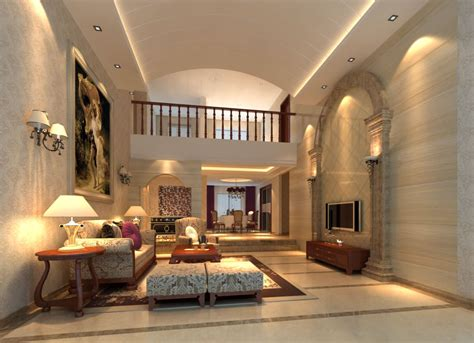 Fancy Living Room Doors by Fancy Living Room Interior With Posh Rug 3d Model Max