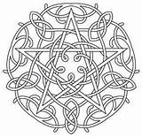 Coloring Pages Pentagram Wiccan Pentacle Mandala Celtic Pagan Embroidery Designs Water Fire Earth Air Symbols Adult Pattern Wicca Colouring Urbanthreads sketch template