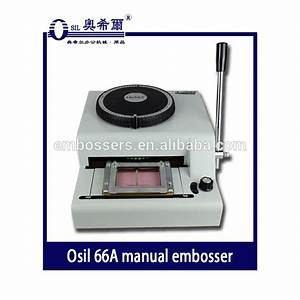 66a Pvc Card Embossing Machine Manual Embosser For Plastic