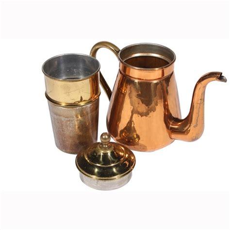 swedish hammered copper teapot vintique