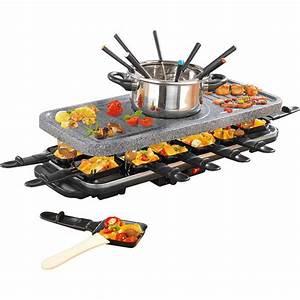 Raclette Fondue Set : gourmetmaxx raclette und fondue set granit keramik von ~ Michelbontemps.com Haus und Dekorationen