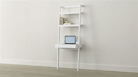 sawyer white leaning desk in desks crate and barrel