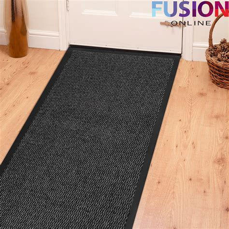 HEAVY DUTY NON SLIP RUBBER BARRIER MAT LARGE & SMALL RUGS BACK DOOR HALL KITCHEN eBay