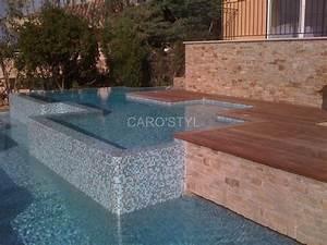piscine en mosaique pate de verre bleue carrelage et salle With colle pour mosaique piscine