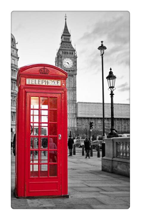 red telephone booth  big ben  street wall picture