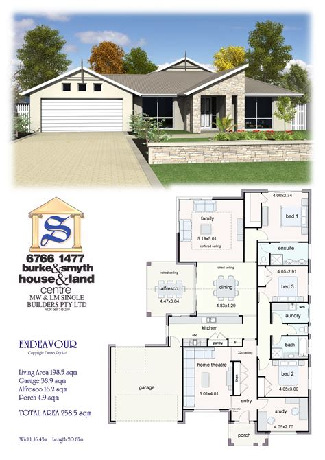 single builders endeavour house plan house plans in 2019