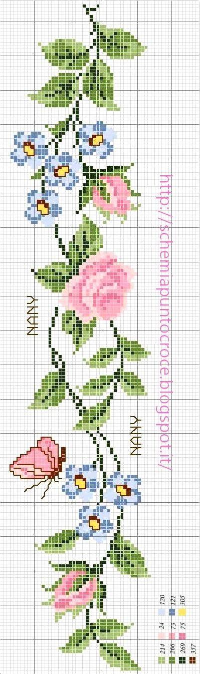 schemi punto croce fiori asciugamani punto croce schemi gratis con schema di ricamo