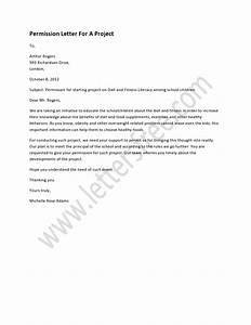 Permission Letter For A Project   Sample Permission ...