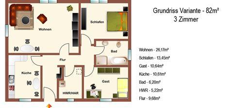 Grundriss Bungalow 3 Zimmer by Hogaf Hausbau Gmbh Klassischer Bungalow