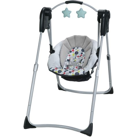 Bany Swings by Graco Slim Spaces Compact Baby Swing Etcher Walmart