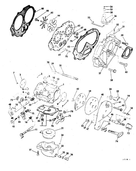 20 Hp Johnson Outboard Diagram by Johnson Carburetor Parts For 1969 20hp 20r69b
