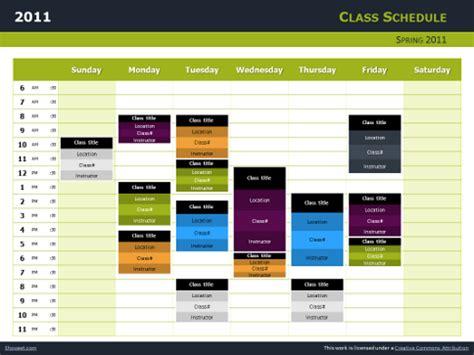class schedule  charts  powerpoint  impress