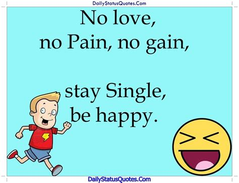 single be happy daily status quotes