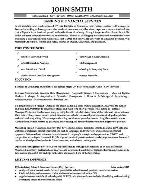 banking and financial services resume template premium