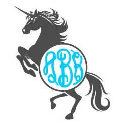 unicorn monogram svg cuttable frames
