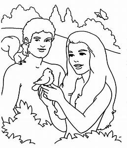 Adam and Eve, Adam and Eve Playing with Bird in the Garden ...