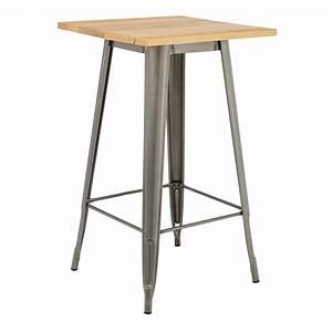 Table Haute Bois : table haute lix bross e en bois sklum france ~ Melissatoandfro.com Idées de Décoration