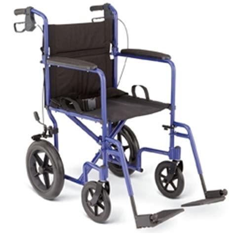 Transport Chair Vs Wheelchair by Medline Deluxe Transport Wheelchair With 12 Quot Rear Wheels