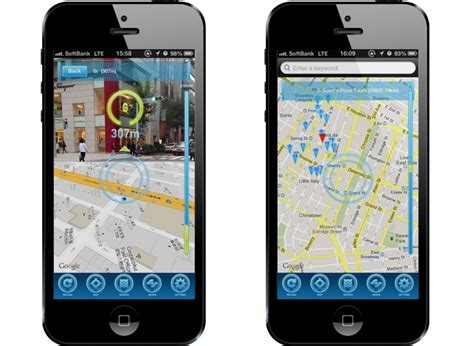 maps for iphone augmented reality maps application for iphone by crossfader