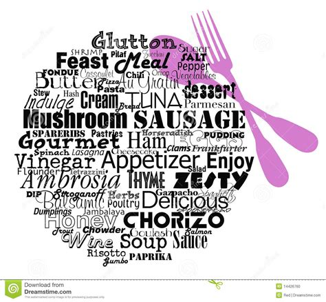 word for cuisine food words on plate stock photo image 14426760