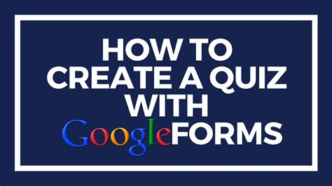 how to create a google form quiz how to create a quiz with google forms youtube