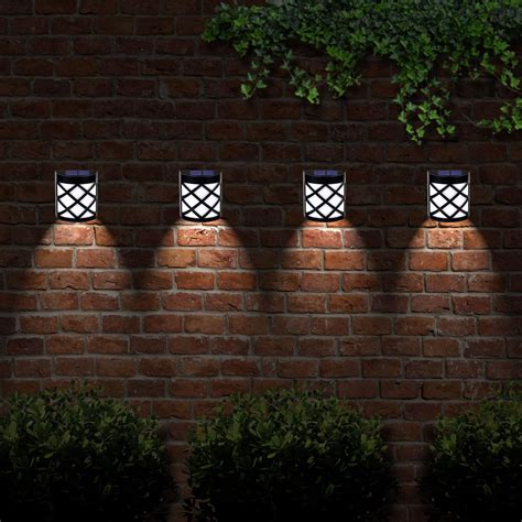 6 X Solar Powered Outdoor Garden Shed Door Fence Wall Led