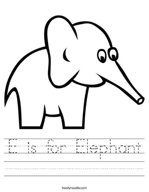 elephant worksheet twisty noodle