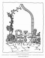 Coloring Garden Flower Arch Flowers Pages Climbers Rose Formal Sheet Colouring Adult Gardens Sheets Designlooter Wonderweirded Arbor Climbing Traditional Drawings sketch template