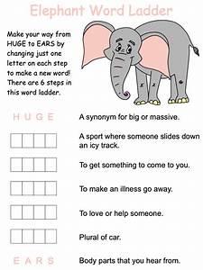 Elephant Word Ladder Puzzles