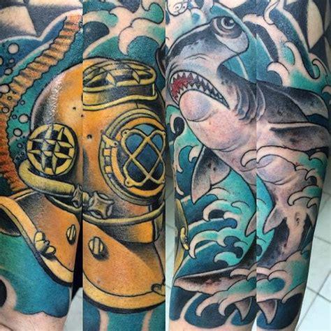 hammerhead shark tattoo designs  men deep sea ink