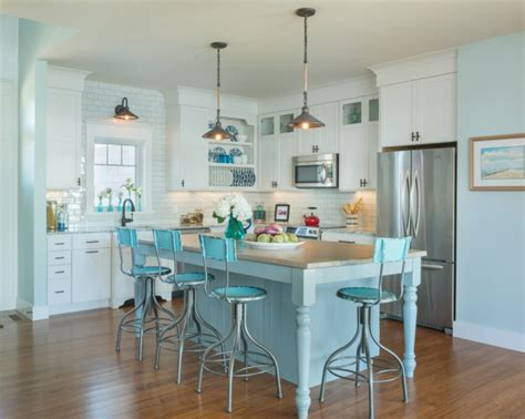 your own kitchen island turquoise kitchen decor with turquoise wall paint