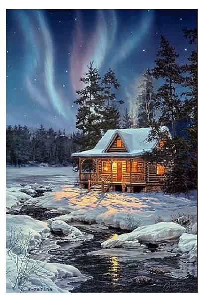 Thomas Kinkade Winter Christmas Paintings Google Scenes