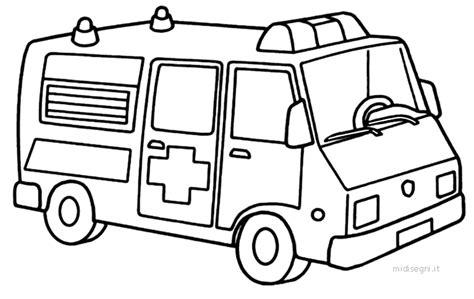 miniescavatore disegno ambulanza