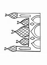 Mosque Coloring Pages Drawing Muslim Template Printable Raskraski Sketch Getdrawings Drawings Eid Paintingvalley sketch template