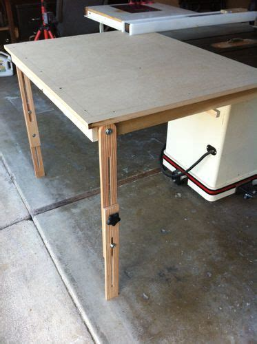 portable table saw outfeed table table saw outfeed table 2 finished up and tested by