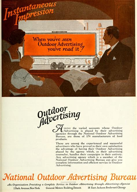 outdoor advertising bureau national outdoor advertising bureau 1920 caigns