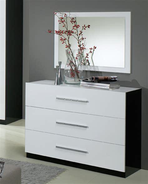 commodes chambres commode 3 tiroirs gloria noir et blanc blanc noir